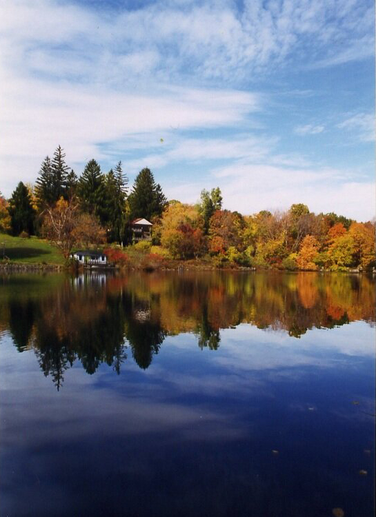 image of lake in fall