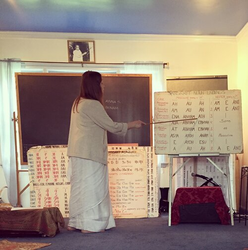 sanskrit class with Bharati Devi